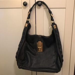 Michael Kors Navy Blue Leather bag